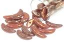 Crescent Beads - Oxidized Bronze Berry 3x10mm