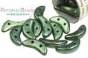 Crescent Beads - Polychrome Aqua Teal 3x10mm