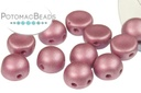2-Hole Cabochon Beads 6mm - Metallic Lila
