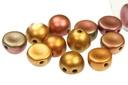 2-Hole Cabochon Beads 6mm - Purple Iris Gold