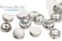 2-Hole Cabochon Beads 6mm - Etched Crystal Labrador Full