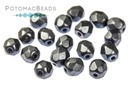 Czech Faceted Round Beads - Pastel Montana Blue 4mm