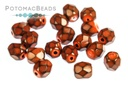 Czech Faceted Round Beads - Snake Hyacinth 4mm