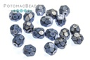 Czech Faceted Round Beads - Snake Ice Blue 4mm
