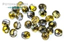 Czech Faceted Round Beads - Sunny Magic Night 3mm