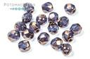Czech Fac Round - Crystal Bronze 4mm