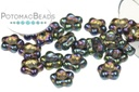 Czech Daisy Beads - Purple Iris 5mm